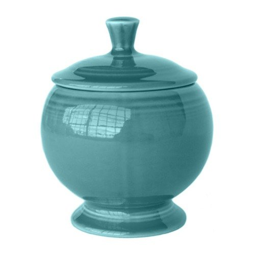 Homer Laughlin 498107 Fiesta Turquoise 8.75 oz. Sugar Dish - 4 / Case