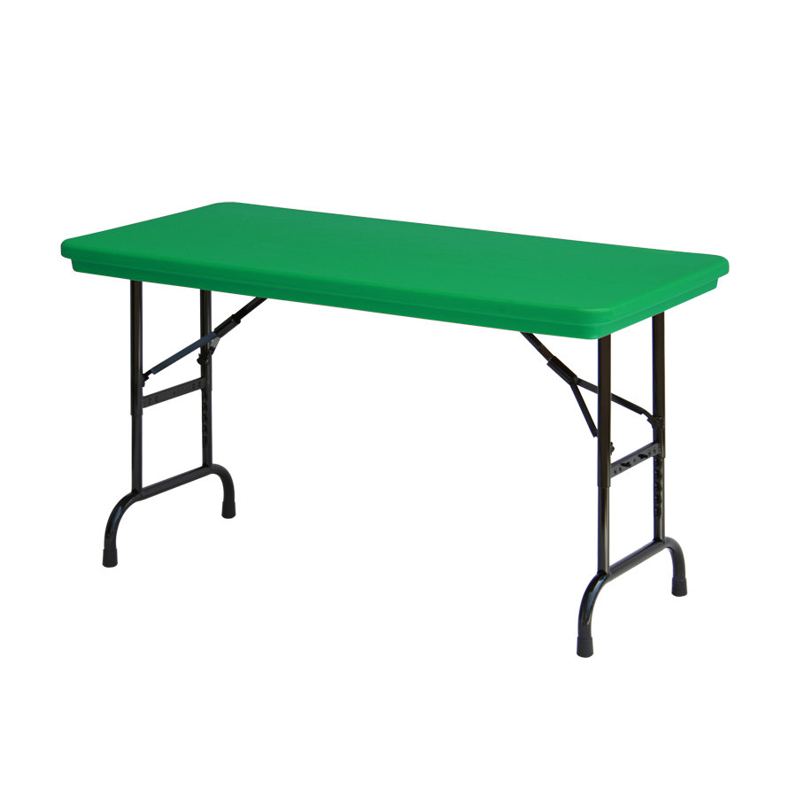 Plastic Folding Table : ... series-adjustable-height-green-blow-molded-plastic-folding-table.jpg