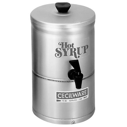Cecilware SD1 1 Gallon Heated Syrup Dispenser - 120V, 53W
