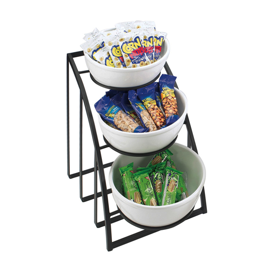 Cal Mil 1712-10-13 Mission 10 inch Round Bowl Display Stand - Black