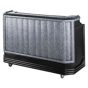 "Cambro BAR650CP420 Granite Gray and Black Cambar 67"" Portable Bar with 7-Bottle Speed Rail and Cold Plate"