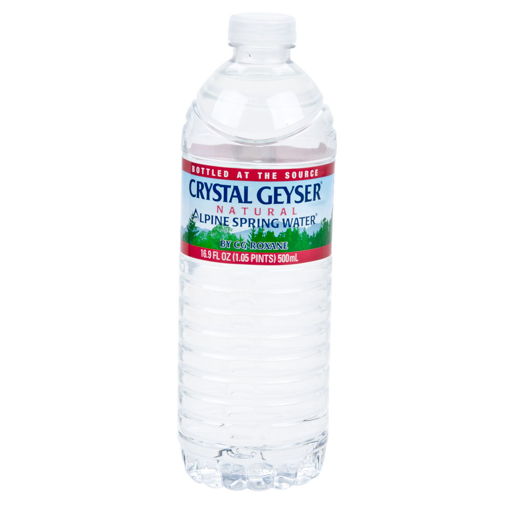Crystal geyser 16 9 oz natural spring water 24 case for Floor 9 water bottle