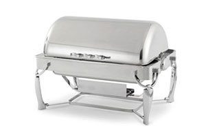 Vollrath 4634010 Somerville 9 qt. Rectangular Chafer - Fully Retractable Roll Top