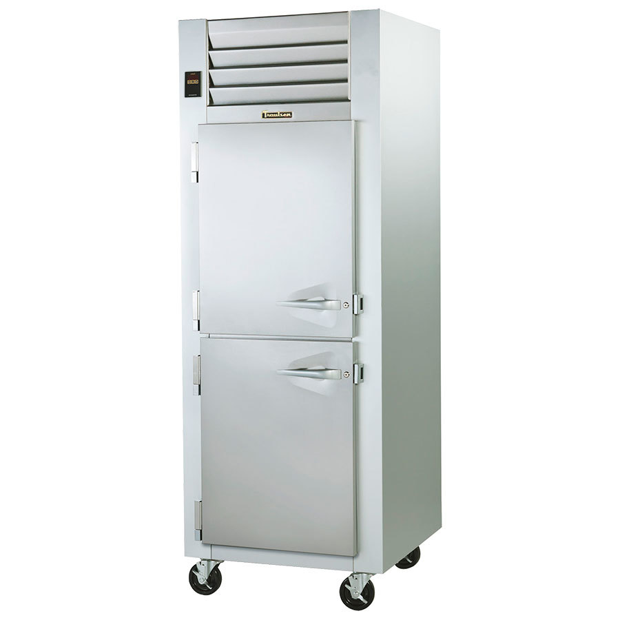 Traulsen G14301 Solid Half Door 1 Section Hot Food Holding Cabinet with Left Hinged Doors
