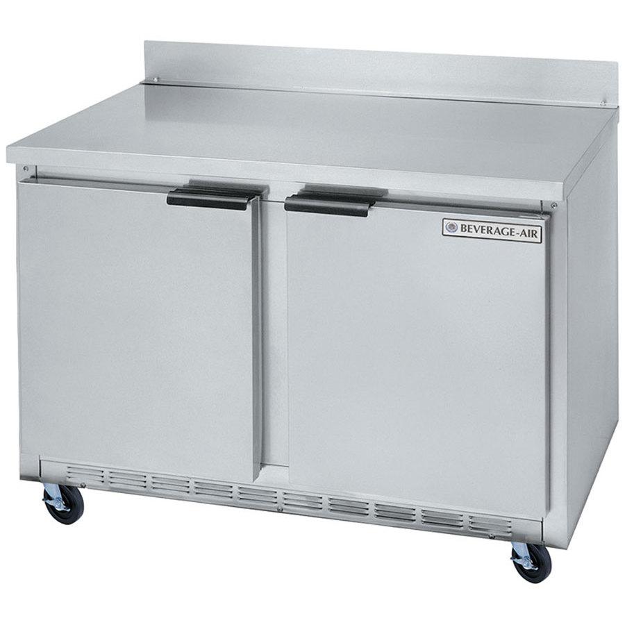 beverage air wtfa two door compact worktop zer cu beverage air wtf48a 48 two door compact worktop zer 13 9 cu ft