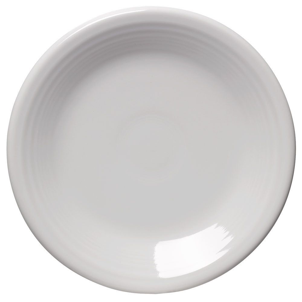 "Homer Laughlin 464100 Fiesta White 7 1/4"" Salad Plate - 12 / Case"