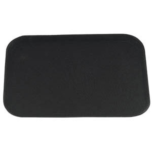 Rectangular 14 inch x 18 inch Black Non-Skid Serving Tray