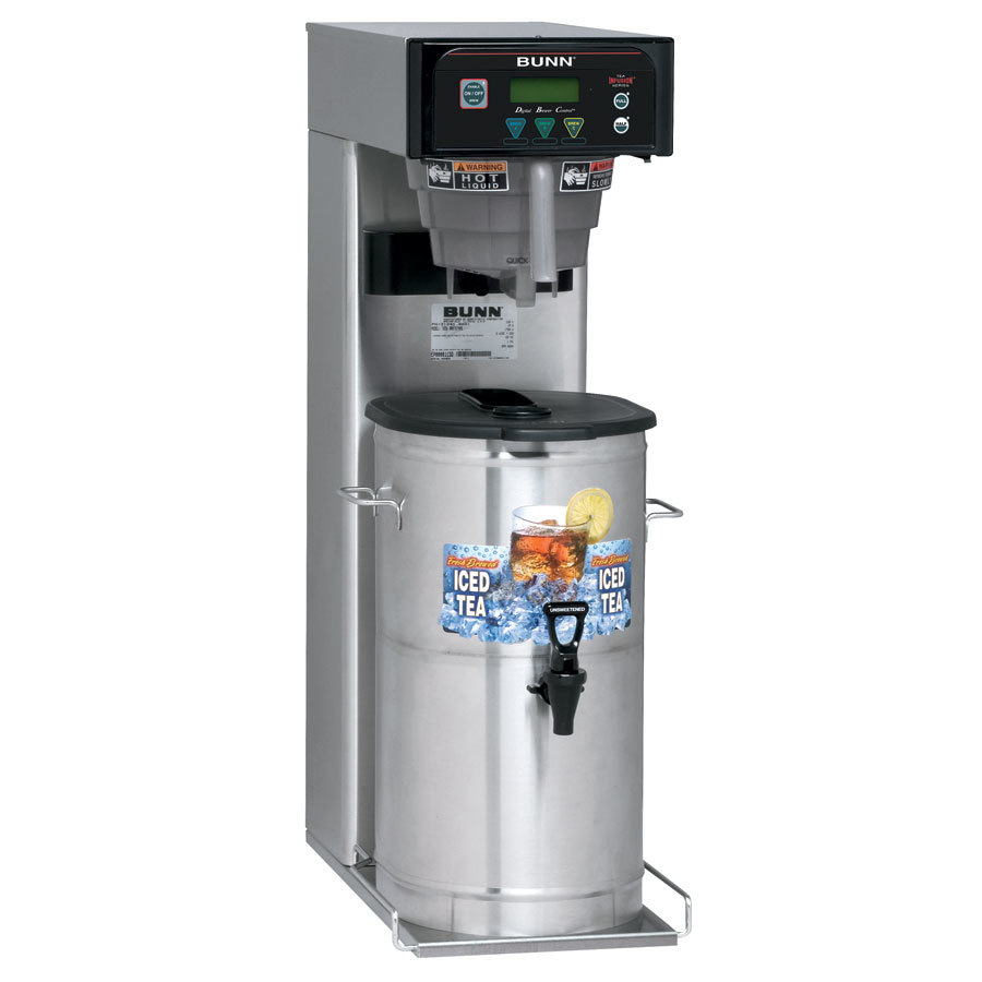 Bunn ITB 3 Gallon Iced Tea Brewer with Sweetener and Digital Controls - 120V (Bunn 41400.0001)
