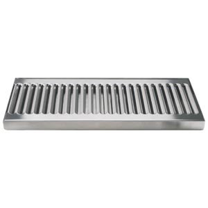 "Micro Matic DP-120D 12"" Stainless Steel Surface Mount Drip Tray with 1/2"" ID Drain"
