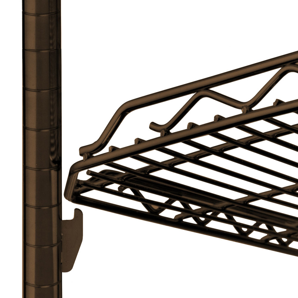 "Metro HDM1436Q-DCH qwikSLOT Drop Mat Copper Hammertone Wire Shelf - 14"" x 36"""
