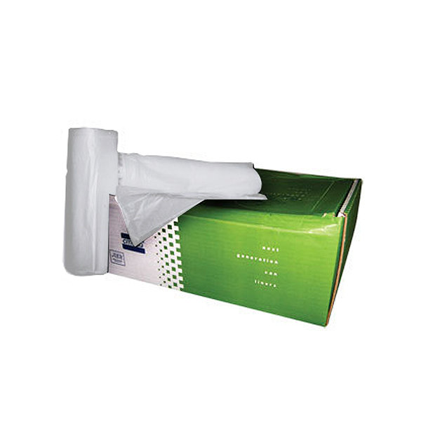 "AEP 333920W 33 Gallon 0.8 Mil White 33"" x 39"" Low Density Can Liner / Trash Bag - 150 / Case at Sears.com"