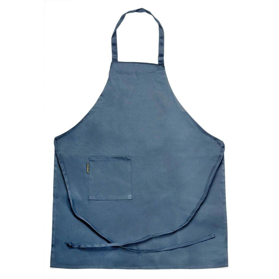 Chef Revival 601BAC-NV Full-Length Navy Blue Bib Apron – 30 inch x 34 inch