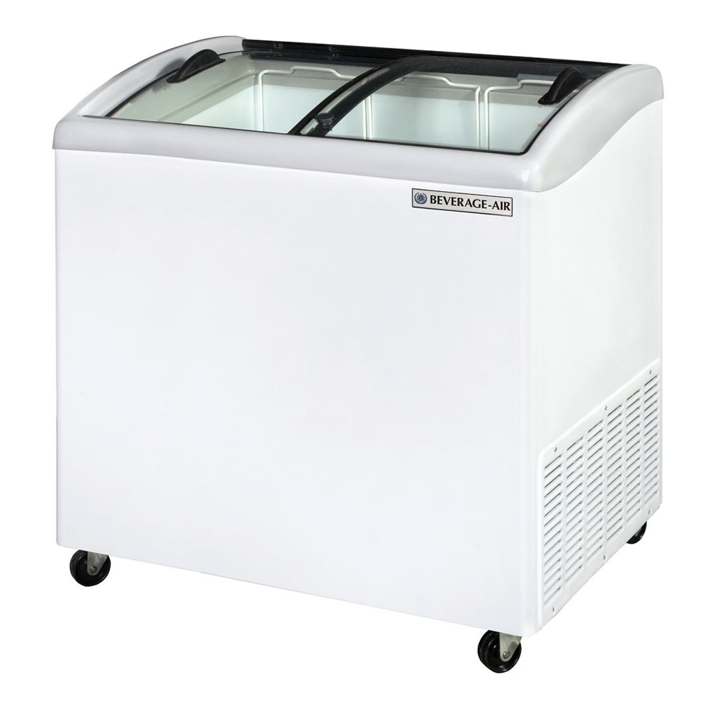Choose a commercial ice cream freezer with a solid top for back-of-house storage, or check out a glass top model for your front-of-house display. If you're looking for items to take your ice cream service to the next level, we have a variety of ice cream chest freezers and other ice cream units for your needs.
