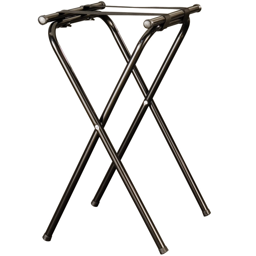 "American Metalcraft CTS31 31"" Black Chrome Deluxe Folding Tray Stand"
