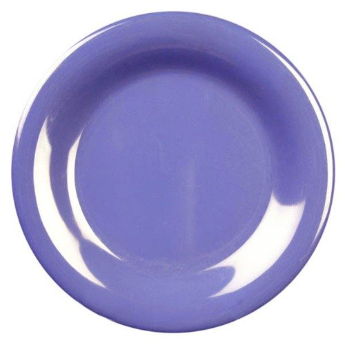 "11 3/4"" Purple Wide Rim Melamine Plate 12 / Pack"