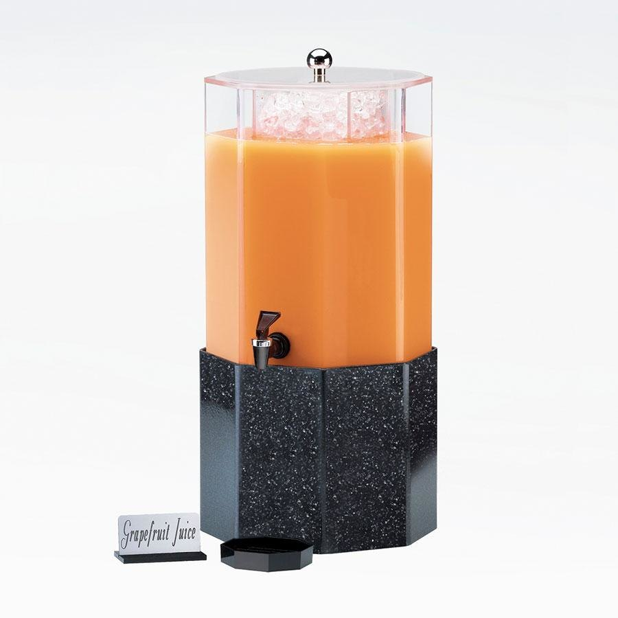 Cal Mil 153-5-17 5 Gallon Classic Octagon Beverage Dispenser with Granite Charcoal Base - 13 inch x 13 inch x 22 inch