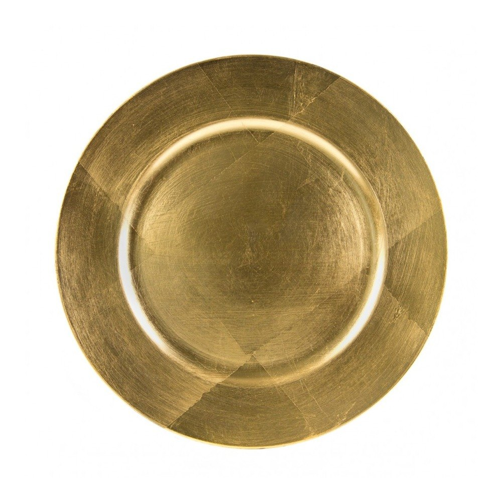 "10 Strawberry Street LAG-24 13"" Lacquer Round Gold Charger Plate"