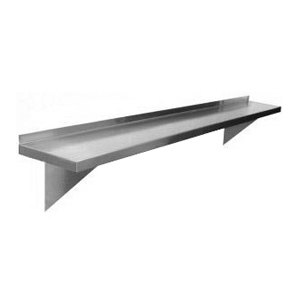 Regency 18 Gauge Stainless Steel 12 inch x 60 inch Solid Wall Shelf