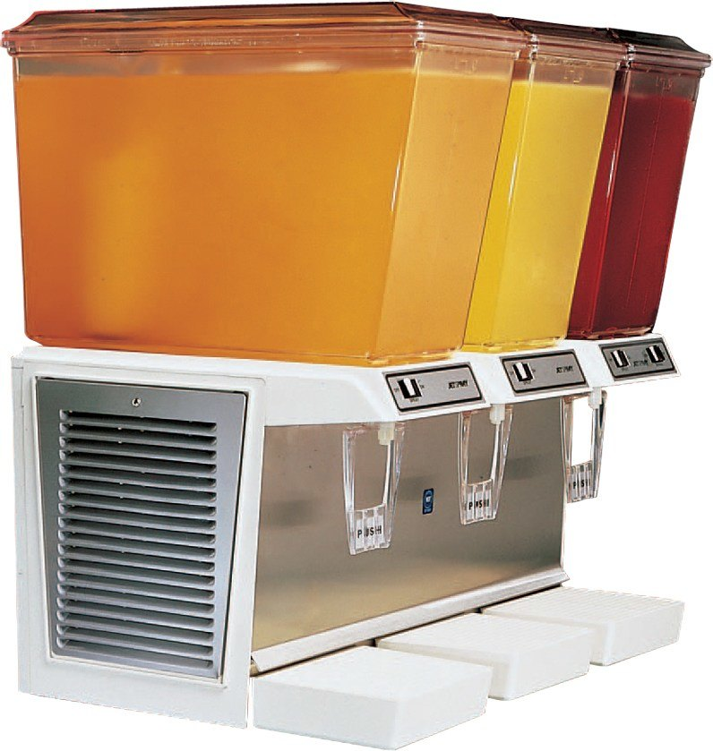 IMI Cornelius JT30 Jet Spray Triple 5 Gallon Bowl Refrigerated Beverage Dispenser
