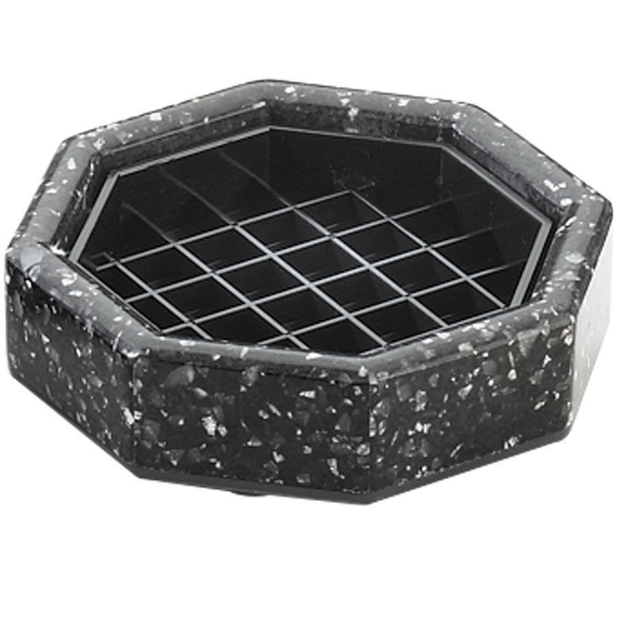 "Cal-Mil 310-4-31 4"" Black Ice Octagonal Drip Tray"