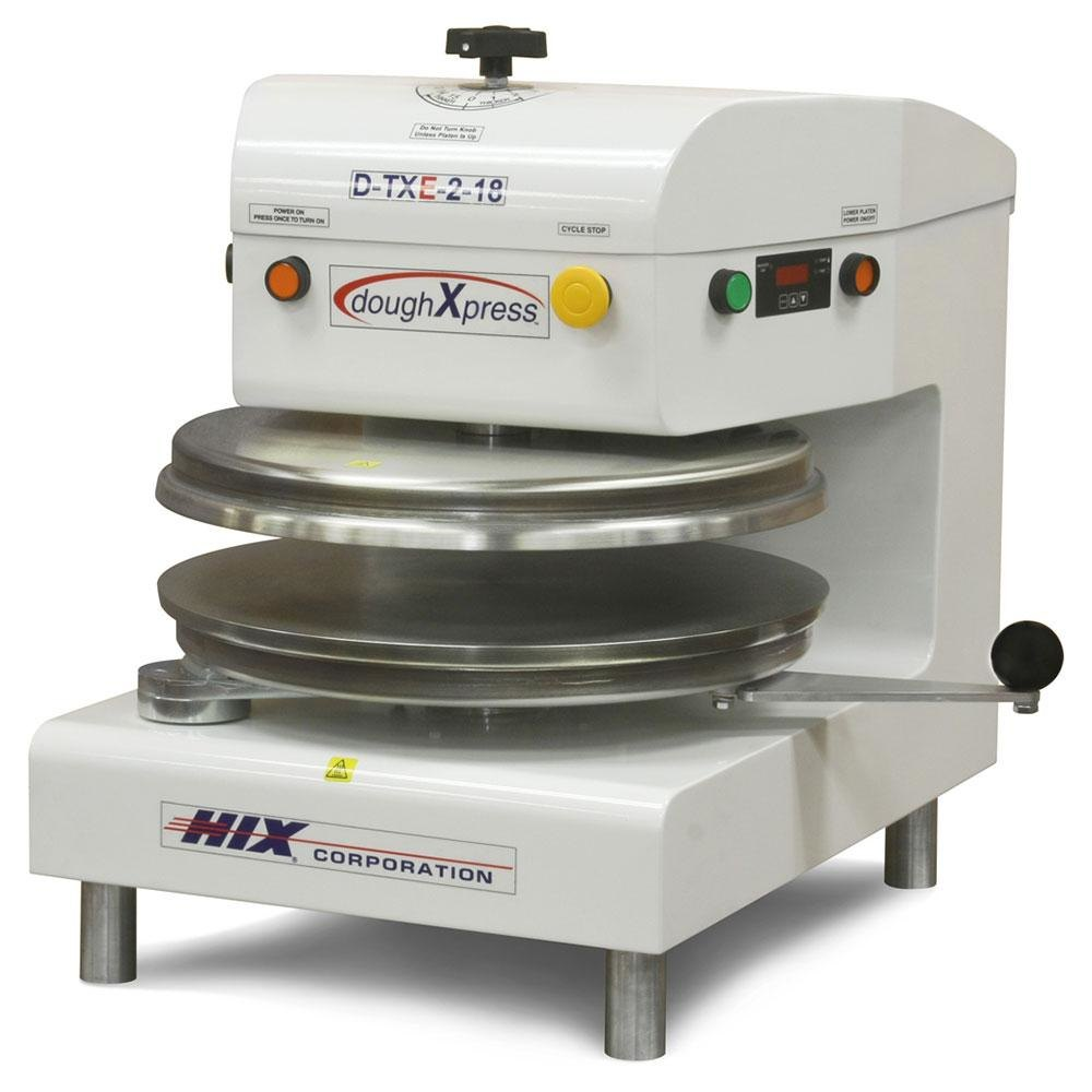 "DoughXpress D-TXE-2-18-WH Dual Heat Round Electromechanical Tortilla Press 18"" - White, 220V at Sears.com"
