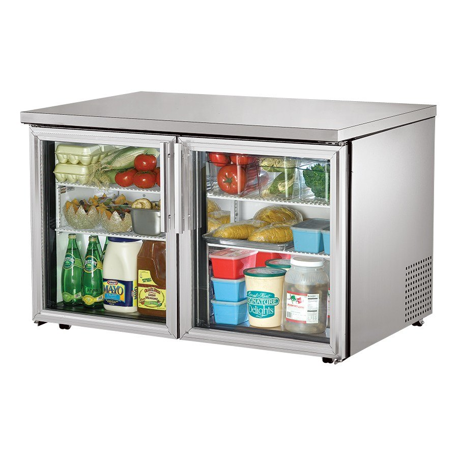 True TUC-48G-LP 48 inch Low Profile Glass Door Undercounter Refrigerator