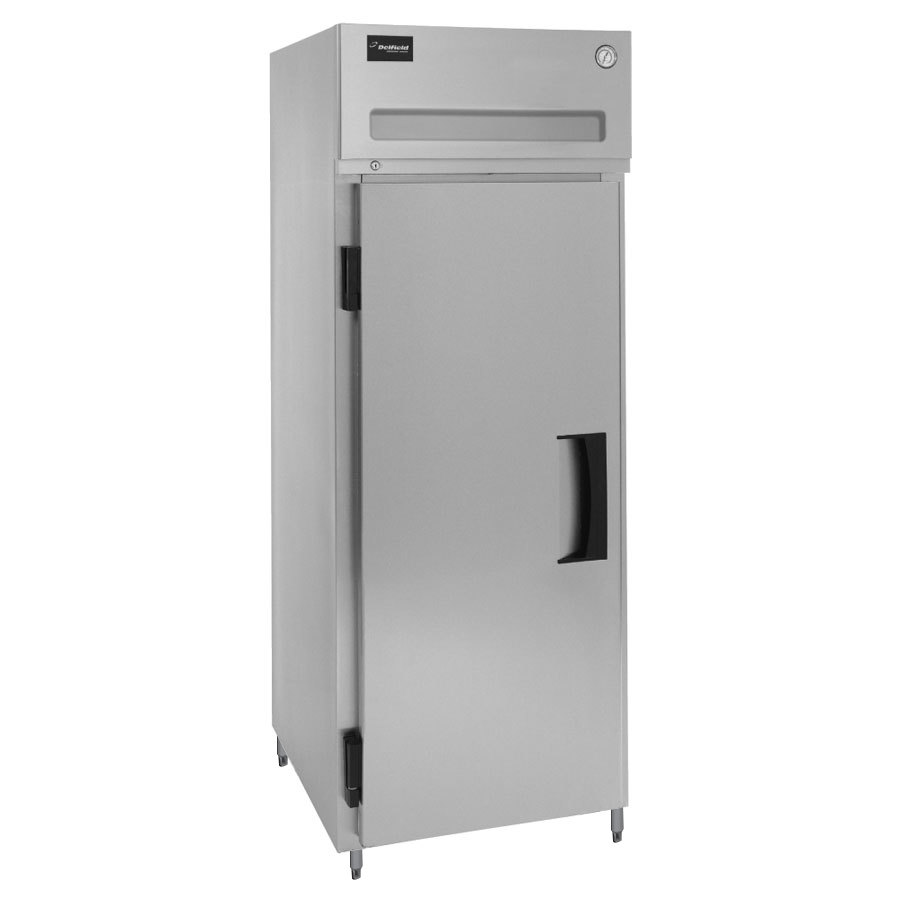 Delfield SSRPT1S-S Stainless Steel 18.25 Cu. Ft. One Section Solid Door Shallow Pass-Through Refrigerator - Specification Line