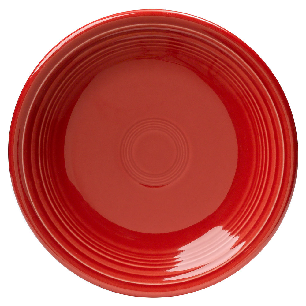 "Homer Laughlin 464326 Fiesta Scarlet 7 1/4"" Salad Plate - 12 / Case"