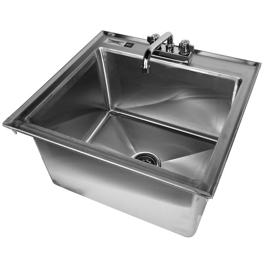 Stainless Steel Utility Sink Drop In : Regency Tables & Sinks Regency 16 Gauge Drop In Stainless Steel Sink ...