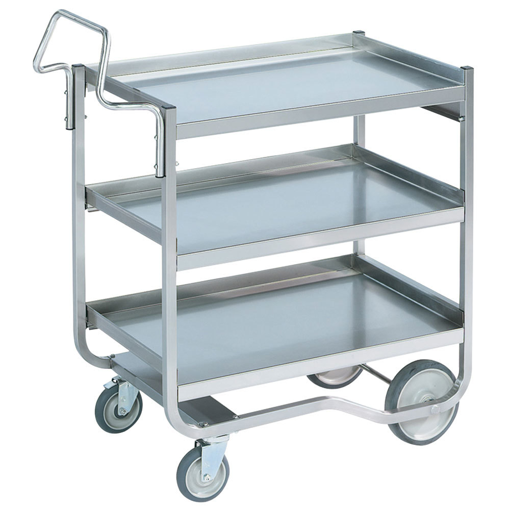Vollrath 97208 Heavy-Duty Stainless Steel 3 Shelf Utility Cart - 44 ...
