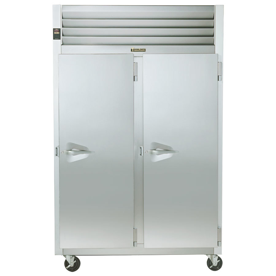 "Traulsen G22012 52"" G Series Two Section Solid Door Reach in Freezer with Right / Right Hinged Doors - 46 cu. ft."