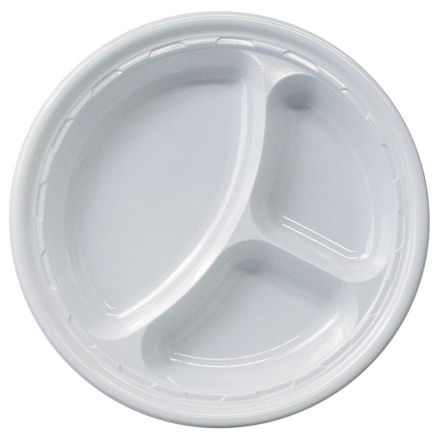 Disposable plastic plates
