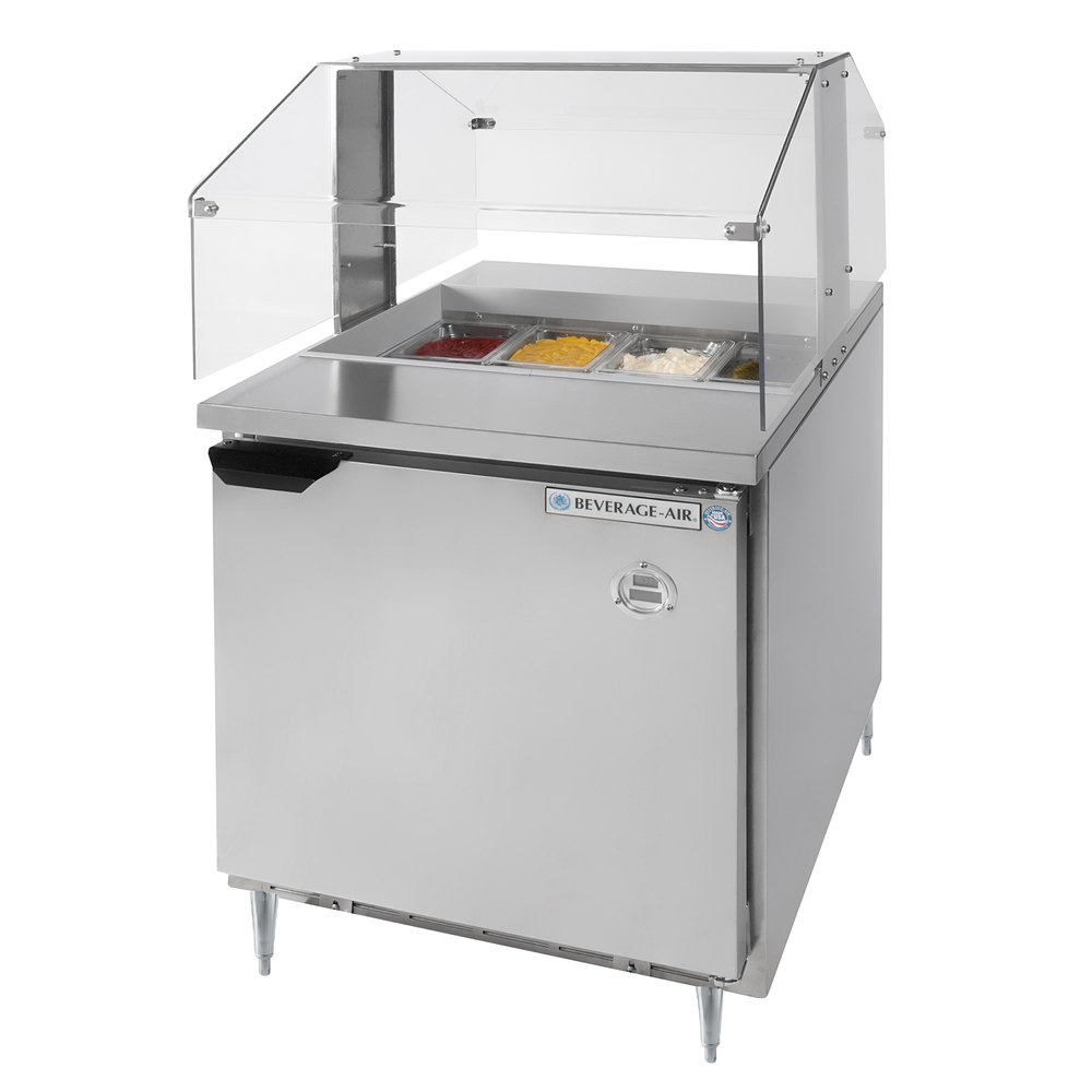 Sandwich Prep Table With Sneeze Guard Sandwich Prep Table With