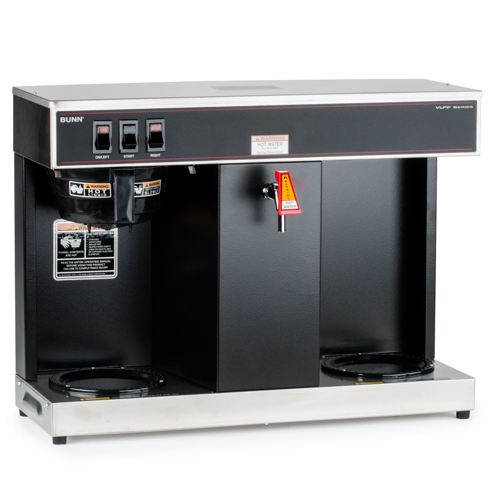 Bunn VLPF Automatic Coffee Brewer with Two Lower Warmers - 120V (Bunn 07400.0005)