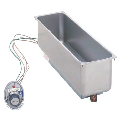 Wells HMP6DU Half Size 1 Pan Drop-In Hot Food Well with Drain - Top Mount, Thermostat Control