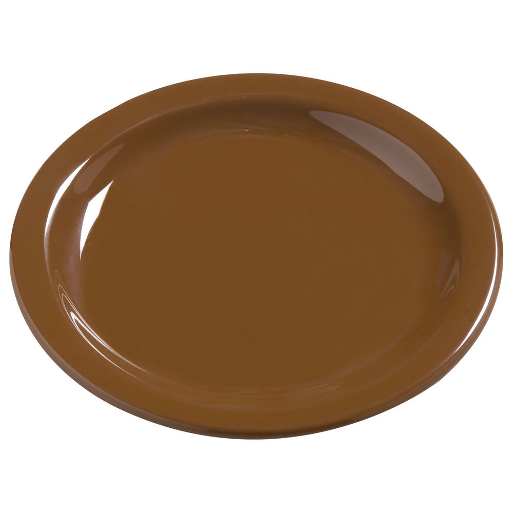 "Carlisle 4385643 Toffee Dayton 5 5/8"" Melamine Bread & Butter Plate - 48 / Case"