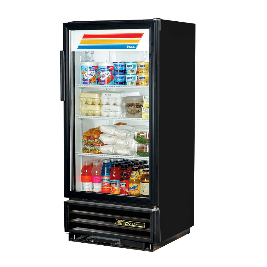 True GDM-10 Black Refrigerated Glass Door Merchandiser - 10 Cu. Ft.