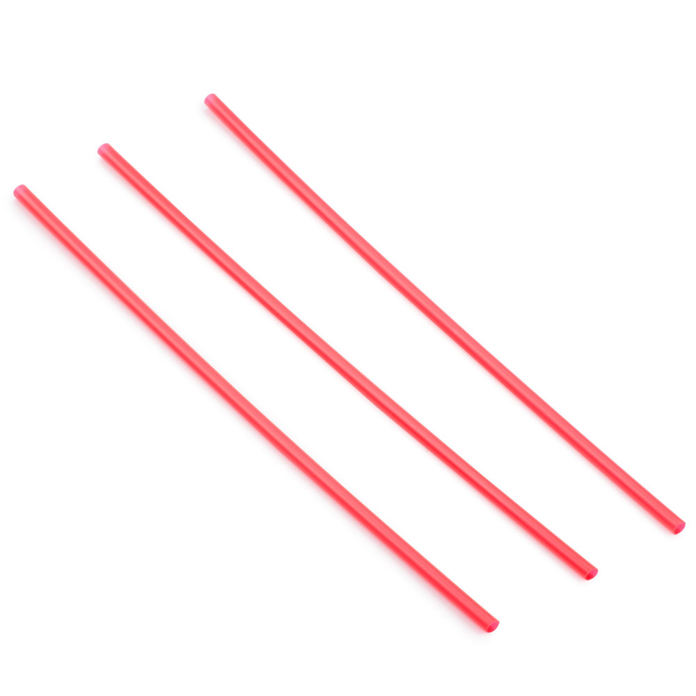 Choice 7 7/8 inch Collins Straw - Red - 500 / Box