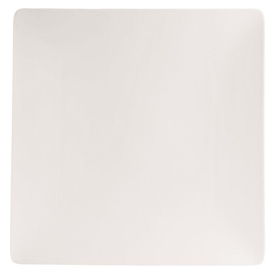 "Cardinal Chef & Sommelier S1002 Purity 10"" White Square Plate - 12/Case"