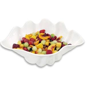"1 Qt. White Shell Shaped Plastic Bowl 11"" x 7 1/2"" x 4 1/2"""