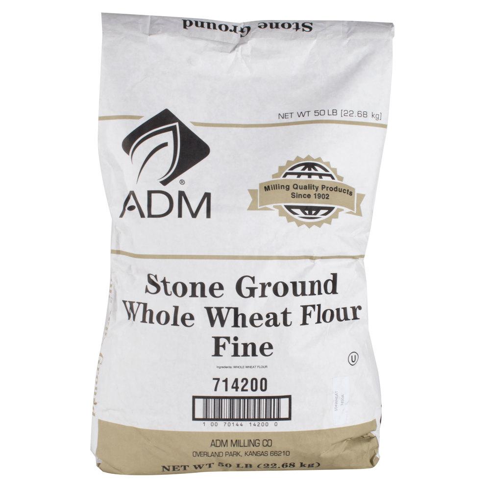 Fine Whole Wheat Brown Flour 50 Lb