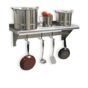 """Advance Tabco PS-15-36 Stainless Steel Wall Shelf with Pot Rack - 15"""" x 36"""" at Sears.com"""