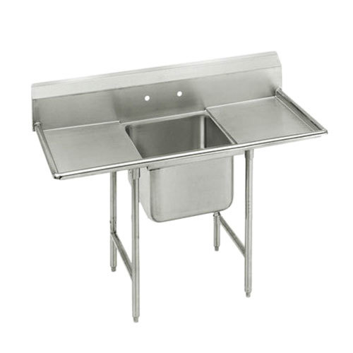 Advance Tabco 9-21-20-18RL Super Saver One Compartment Pot Sink with Two Drainboards - 58""