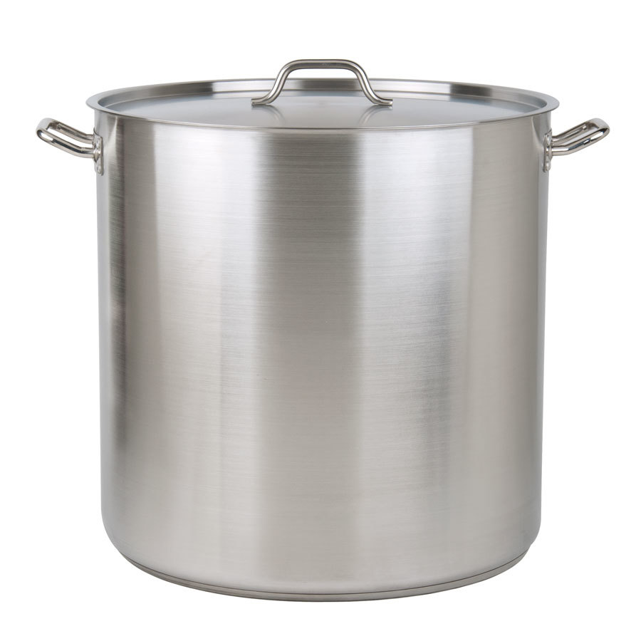 100 Qt. Heavy-Duty Stainless Steel Stockpot with Cover