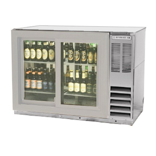 "Beverage Air (Bev Air) BB48GSY-1-S-PT 48"" SS Pass-Thru Back Bar Refrigerator with Sliding Glass Doors - 115V at Sears.com"