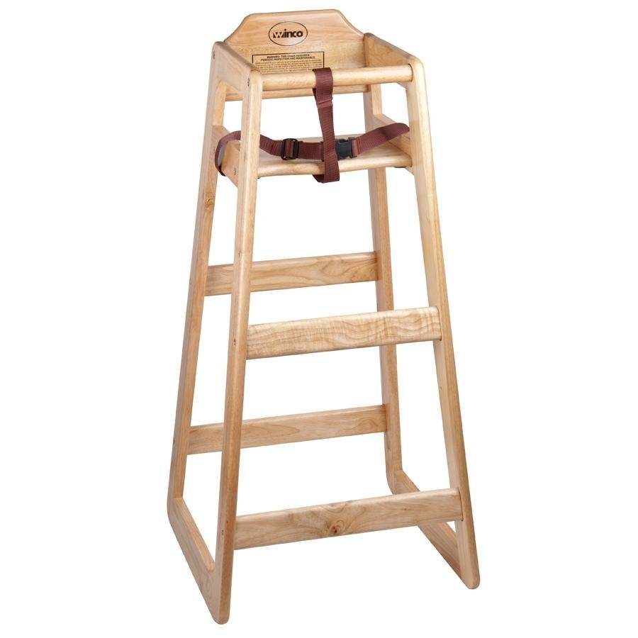 Stacking Restaurant Wooden Pub Height High Chair - Unassembled
