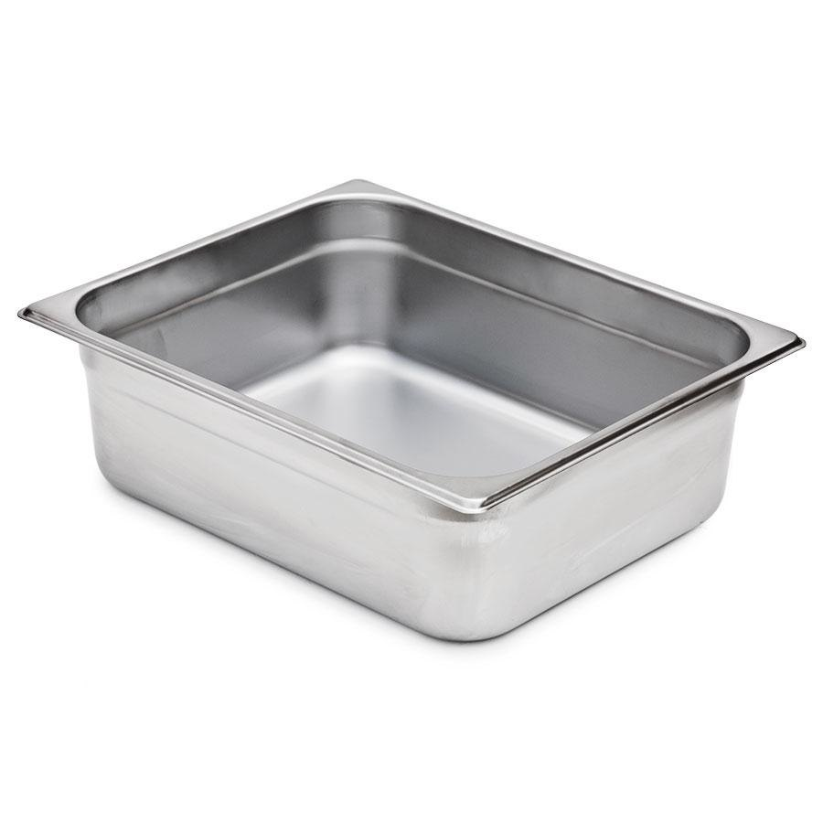 4 inch Deep, 1/2 Size Standard Weight Stainless Steel Steam Table / Hotel Pan Anti-Jam