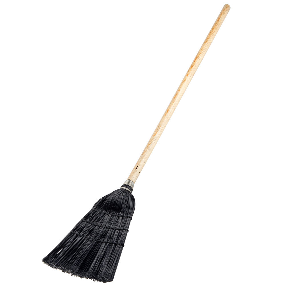 Carlisle 41683 Synthetic Corn Lobby Broom Black