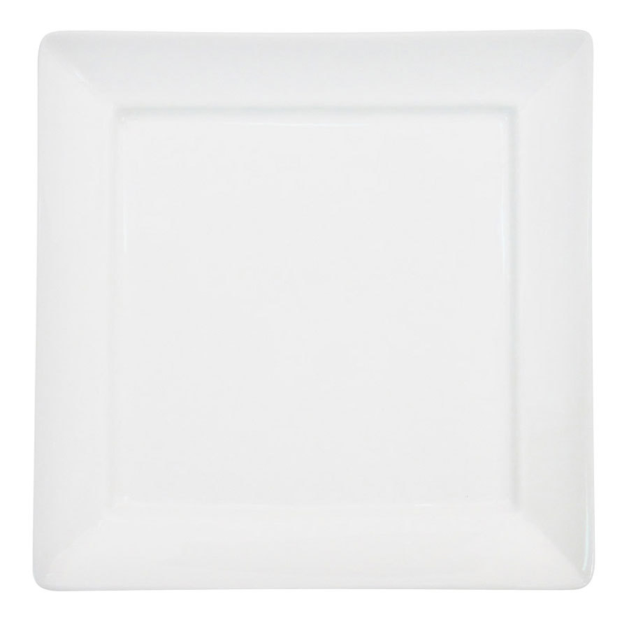 "CAC F-SQ5 Paris French 5"" Bone White Square Porcelain Plate - 36 / Case"