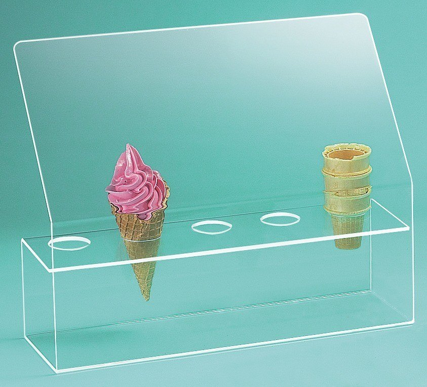 Cal Mil 297 Five Cone Ice Cream Cone Holder with Sneeze Guard